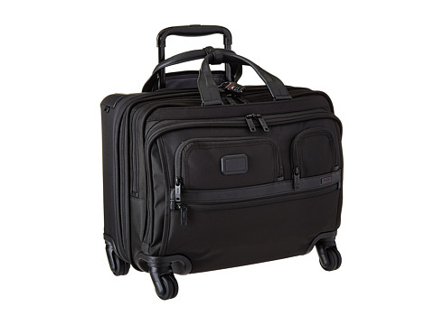 Tumi Apha 2 - 4 Wheeled Deluxe Brief with Laptop Case - Black
