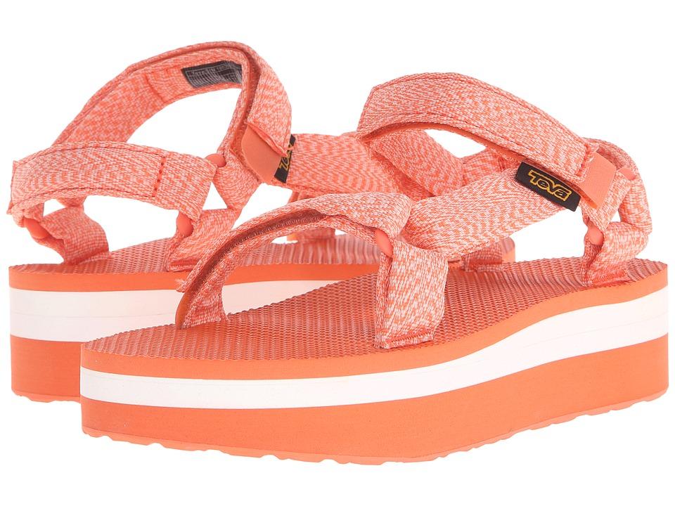 Teva Flatform Universal Marled Coral Womens Sandals