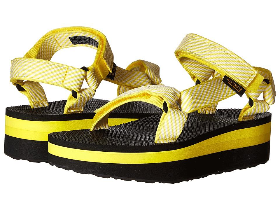 Teva Flatform Universal Candy Stripe Yellow Womens Sandals