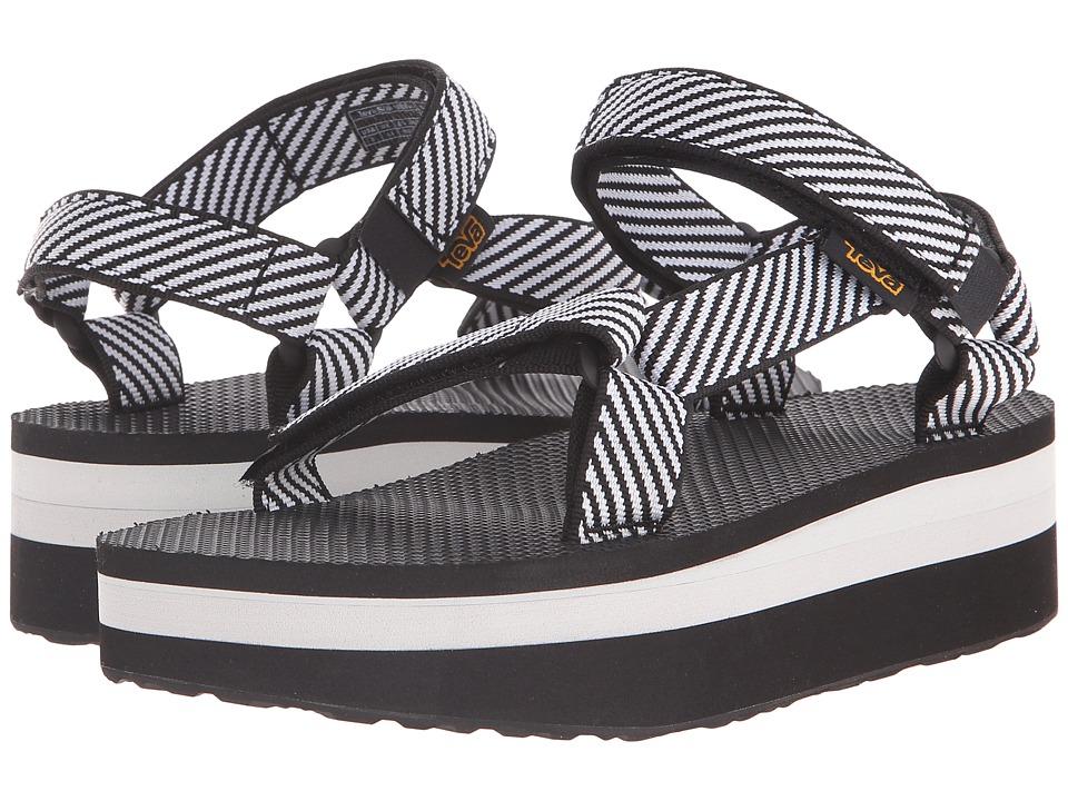 Teva Flatform Universal Candy Stripe Black Womens Sandals