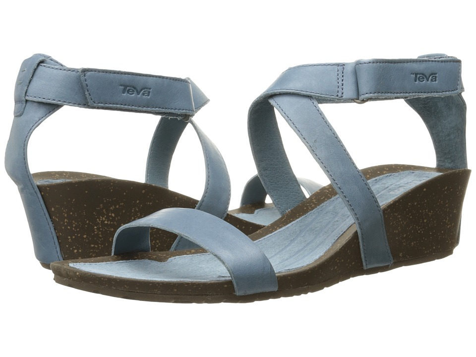 Teva Cabrillo Strap Wedge 2 Blue Mirage Womens Sandals