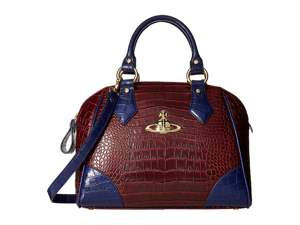 Vivienne Westwood - Jungle Crocodile Top-Handle Satchel (Cherry) Satchel Handbags
