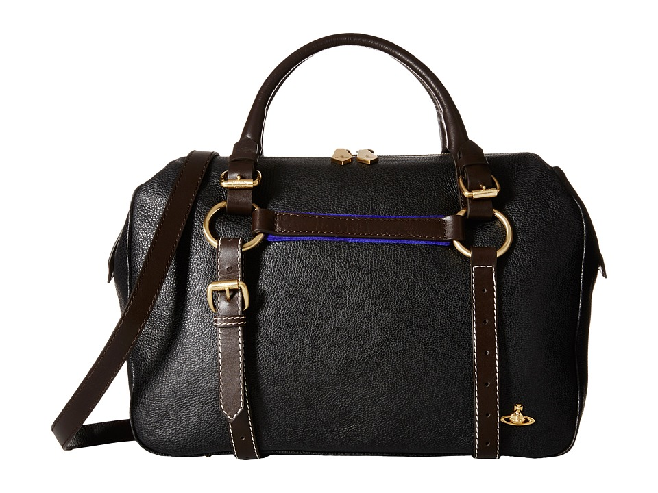 Vivienne Westwood - Horsebrass Leather Handbag (Black) Handbags