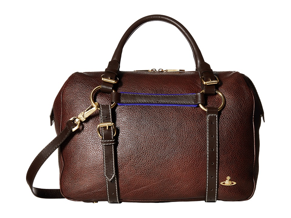 Vivienne Westwood - Horsebrass Leather Handbag (Brown) Handbags