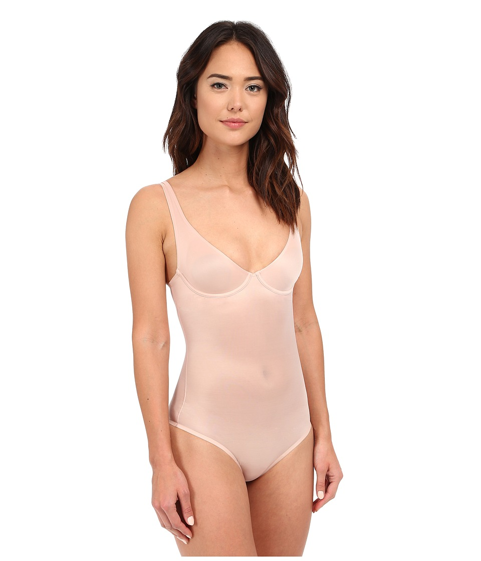 Wolford Sheer Touch Forming String Body (Rosepowder) Wome...
