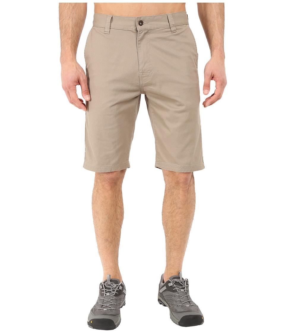 Prana Table Rock Chino Shorts Dark Khaki Mens Shorts