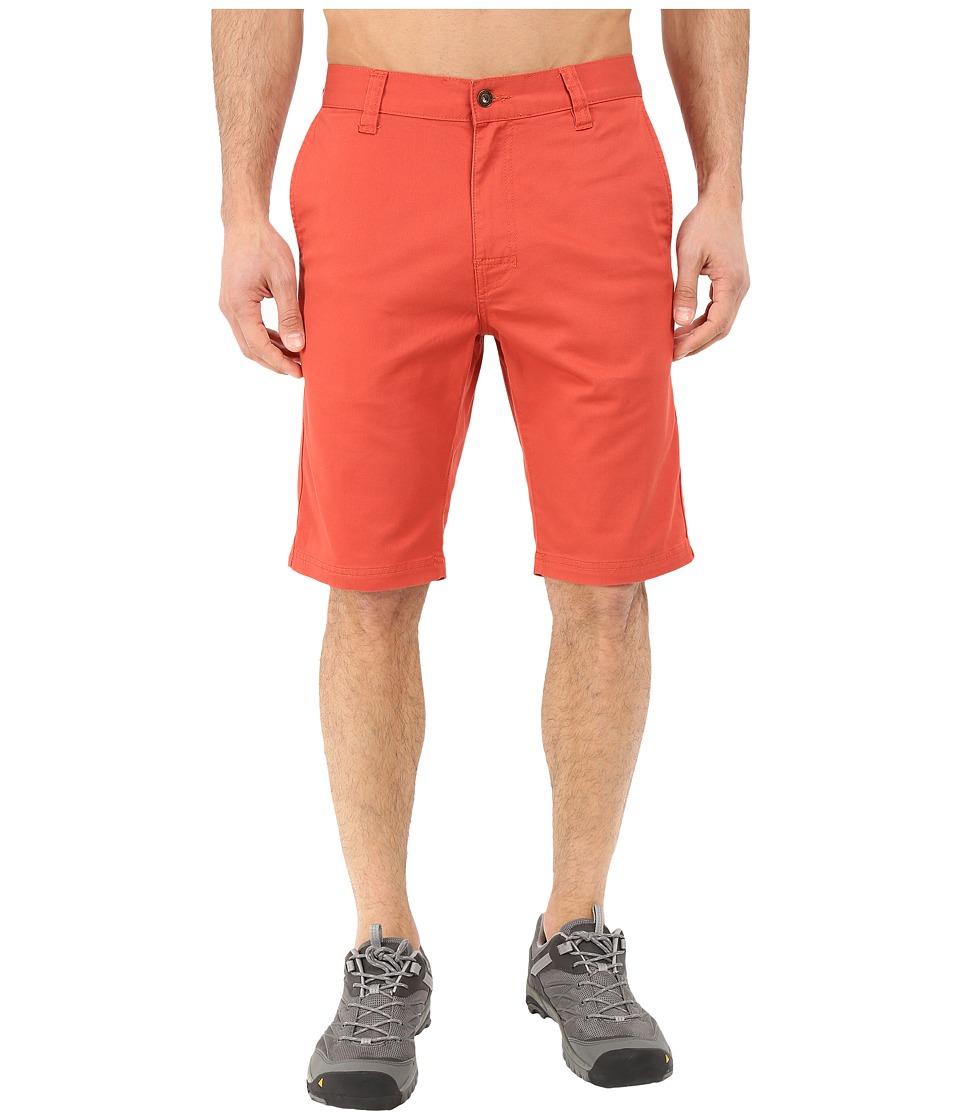 Prana Table Rock Chino Shorts Red Clay Mens Shorts