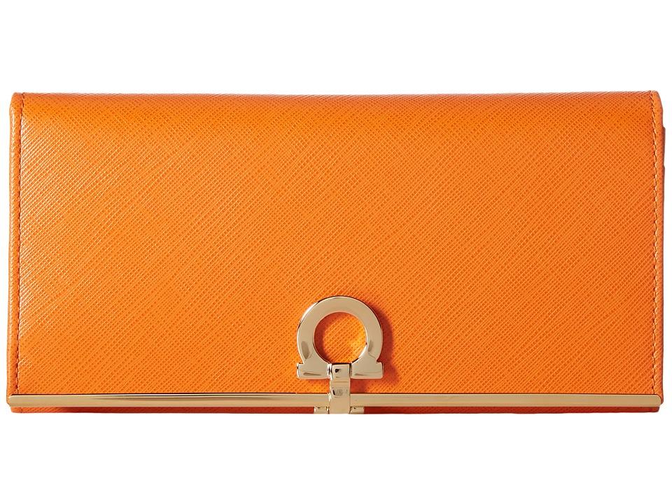 Salvatore Ferragamo - 4633 Icona Intercontinental Wallet (Orange) Clutch Handbags