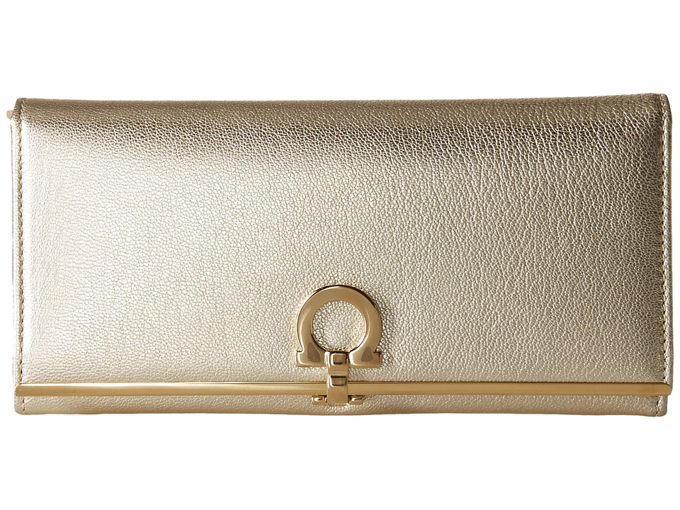 Salvatore Ferragamo - 22C355 Small Leather Good (Stardust) Clutch Handbags
