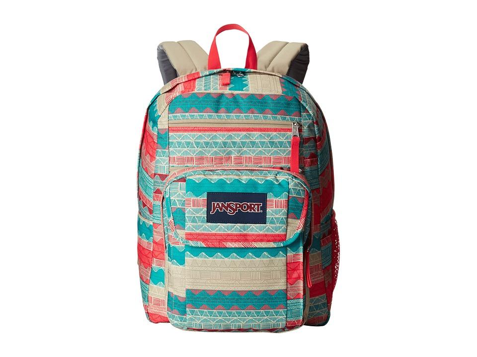 JanSport Digital Student (Malt Tan Boho Stripe) Backpack Bags