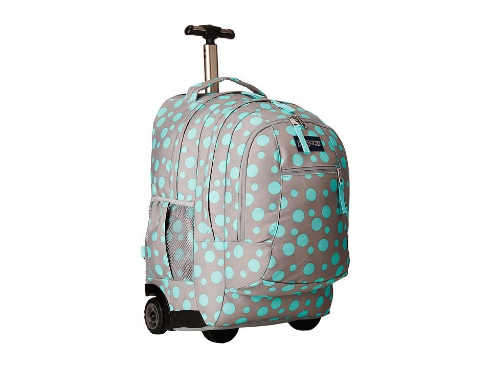 JanSport Driver 8 Grey Rabbit Sylvia Dot Backpack Bags