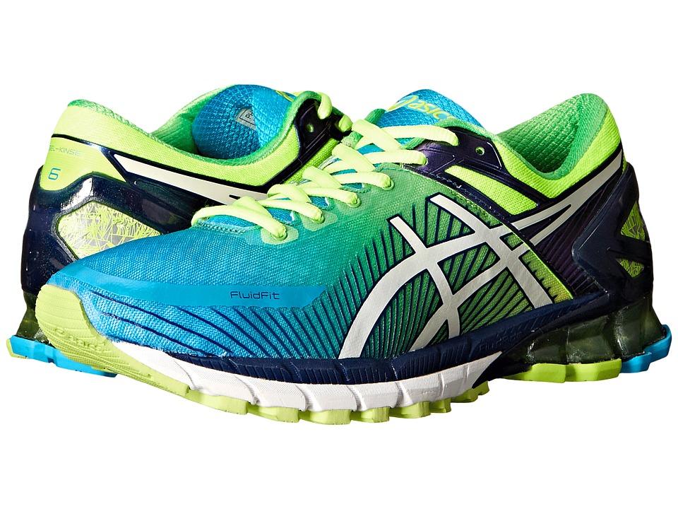 ASICS GEL Kinsei 6 Flash Yellow/White/Blue 1 Mens Running Shoes