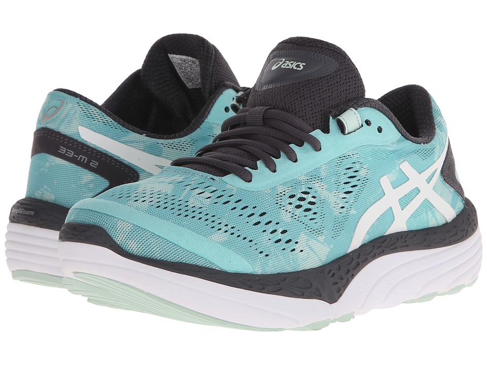 ASICS 33 M 2 Pool Blue/White/Iron Womens Running Shoes