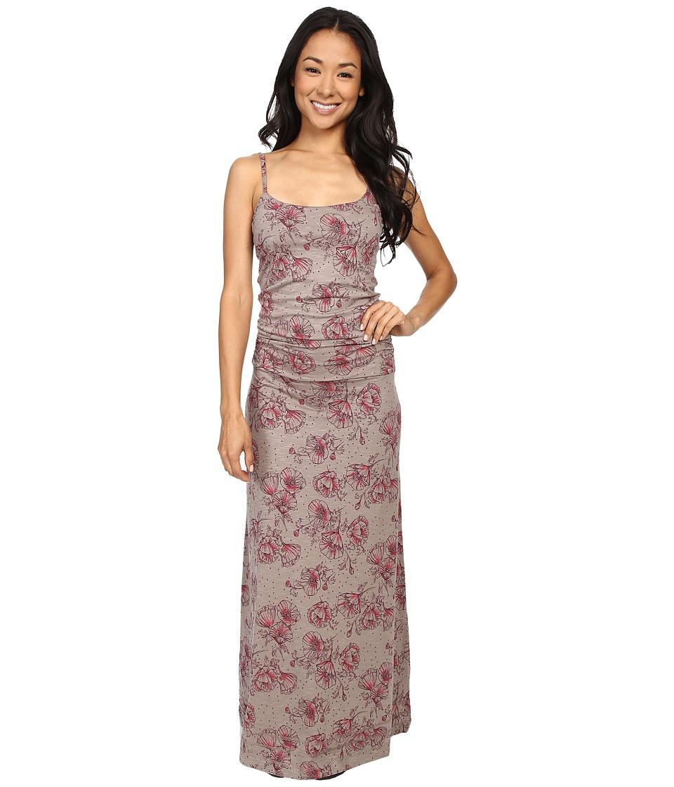 ToadampCo Long Island Dress Cocoa Poppy Print Womens Dress