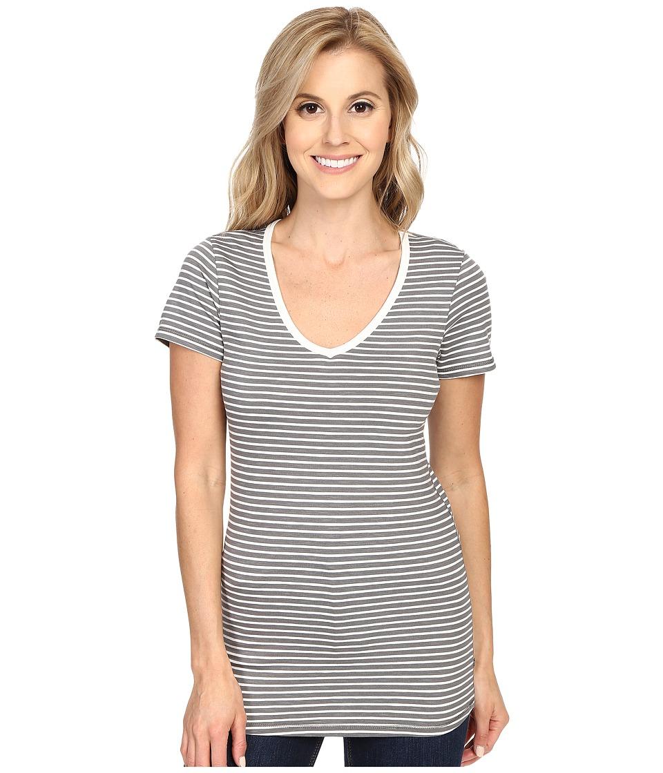 ToadampCo Marley S/S Tee Smoke Stripe Womens Short Sleeve Pullover