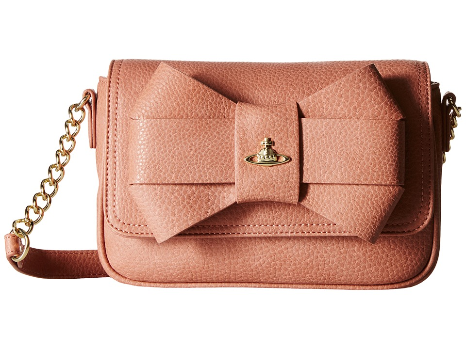 Vivienne Westwood - Bow Shoulder Bag w/ Chain (Rose) Shoulder Handbags