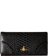 Vivienne Westwood - Frilly Snake Zip Around Wallet w/ Chain