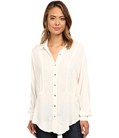 Free People - Rayon Herringbone Affection Button Down