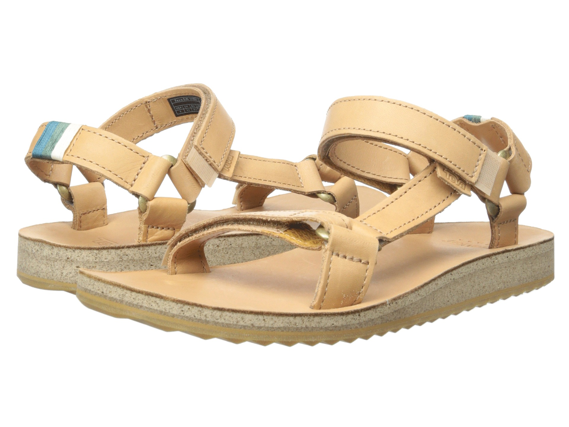 teva original universal crafted leather tan