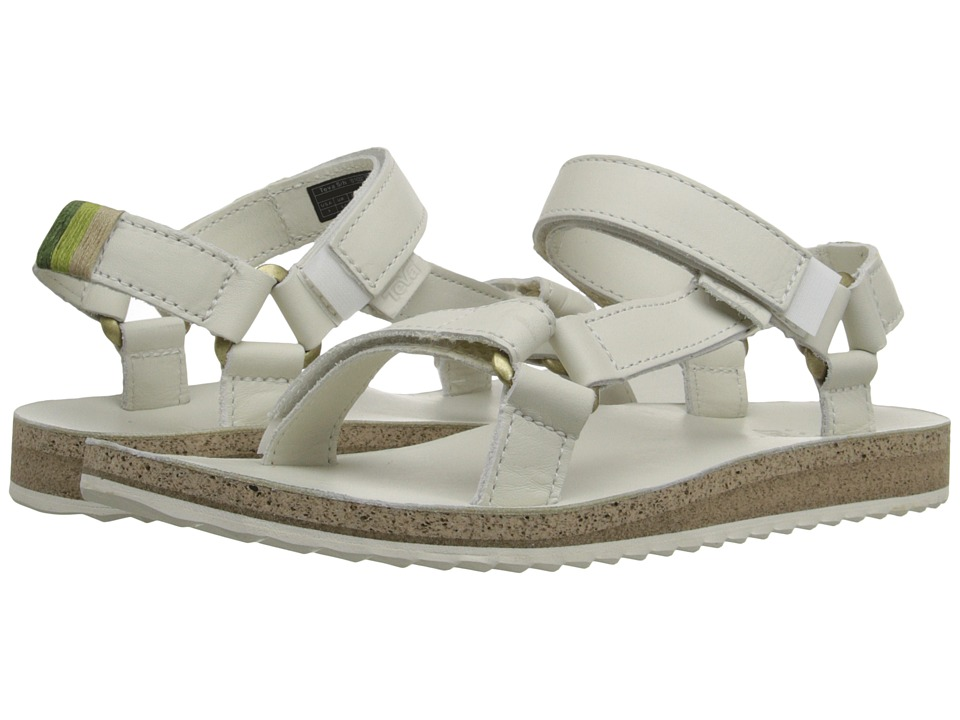 Teva Original Universal Crafted Leather White Womens Shoes