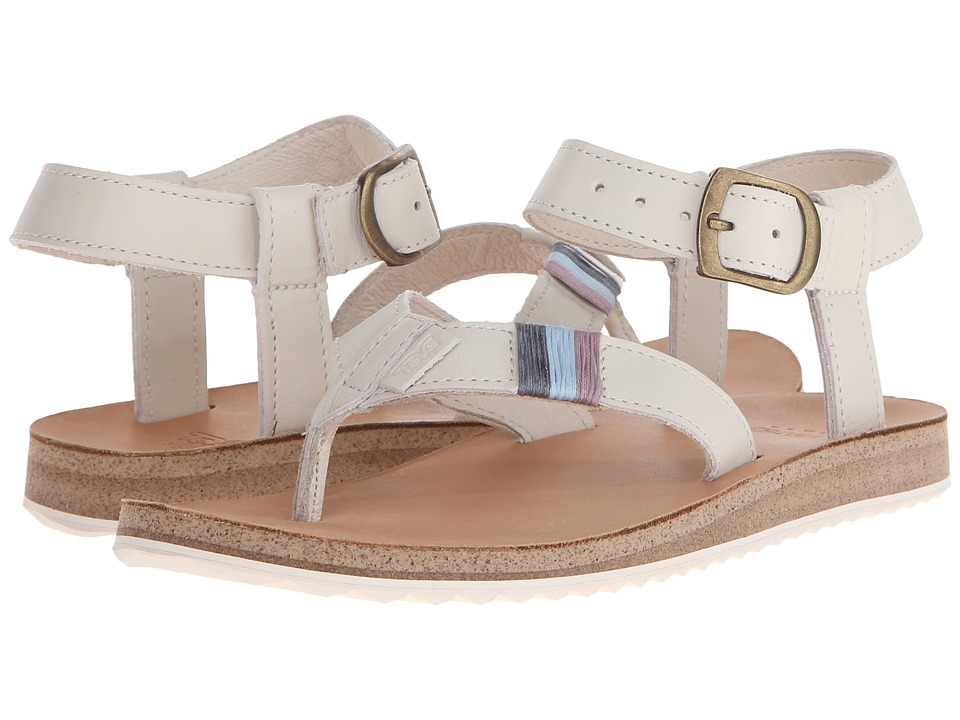 Teva Original Sandal Crafted Leather White Womens Sandals