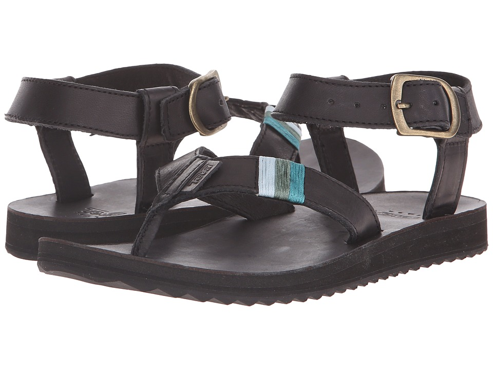 Teva Original Sandal Crafted Leather Black Womens Sandals