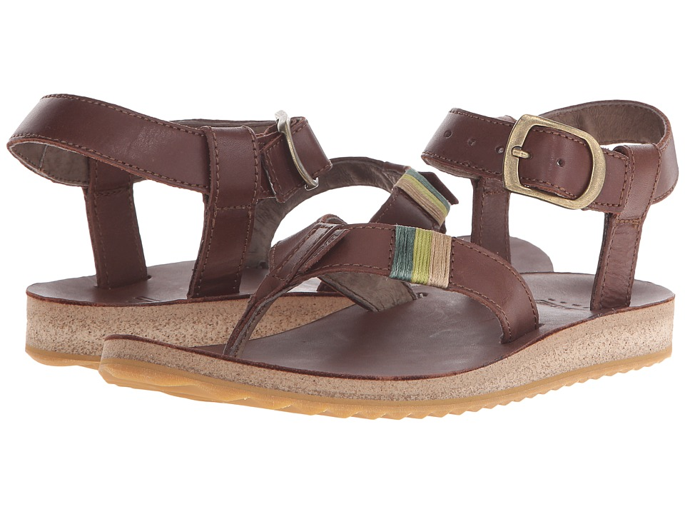 Teva Original Sandal Crafted Leather Brown Womens Sandals