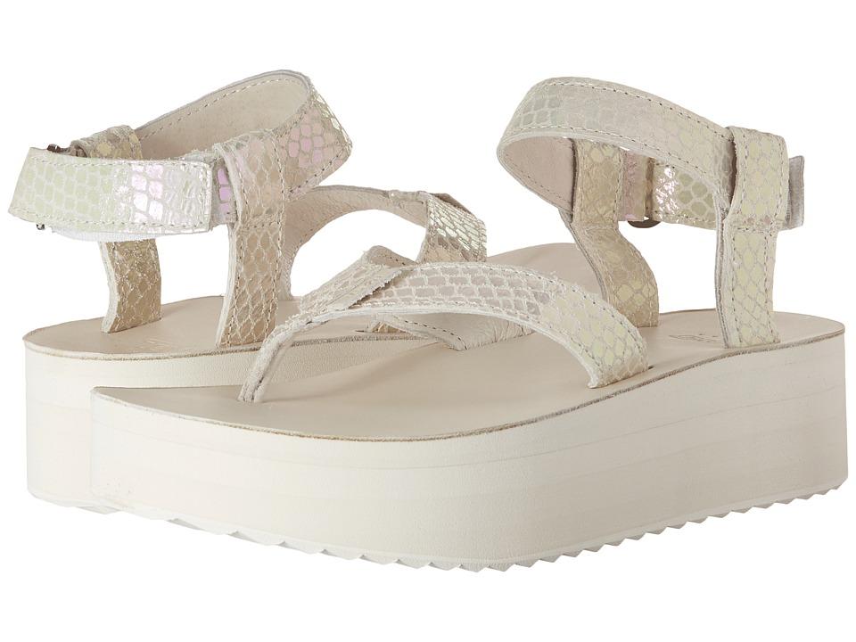 Teva Flatform Sandal Iridescent White Womens Sandals