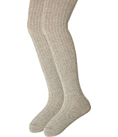 Jefferies Socks - Cotton Rib Tights 2-Pack (Toddler/Little Kid/Big Kid)