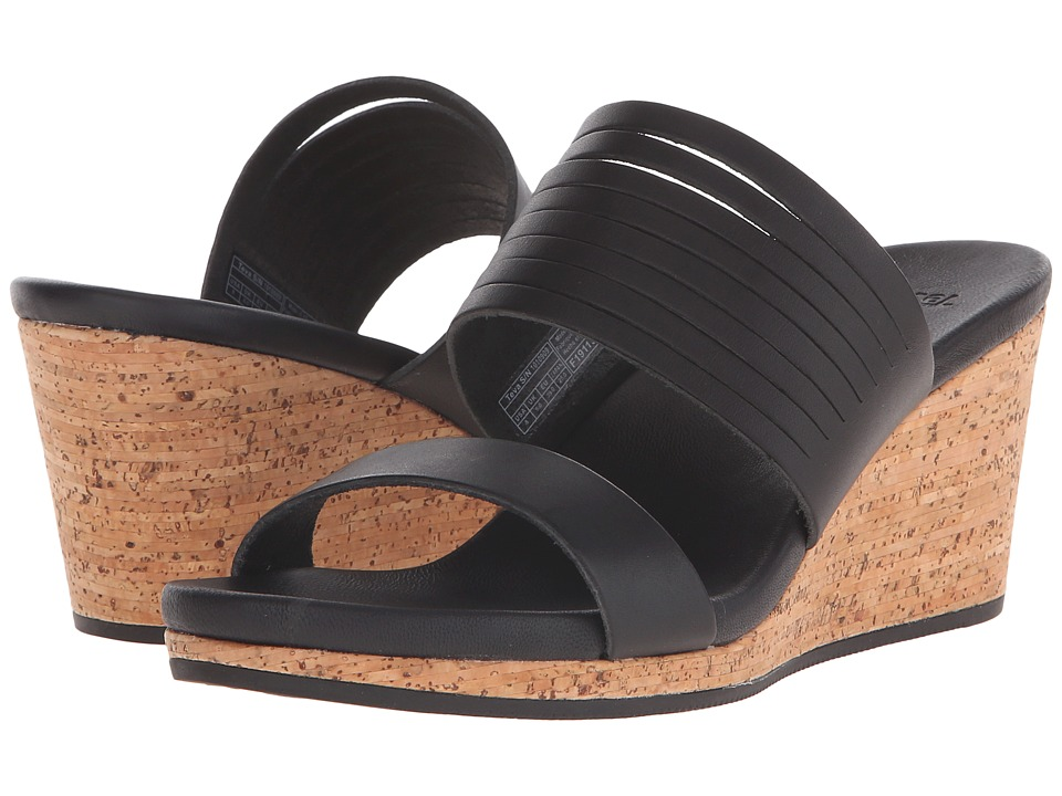 Teva Arrabelle Slide Leather Black Womens Sandals