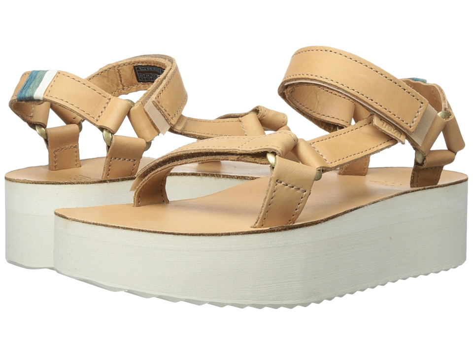 Teva Flatform Universal Crafted Tan Womens Shoes