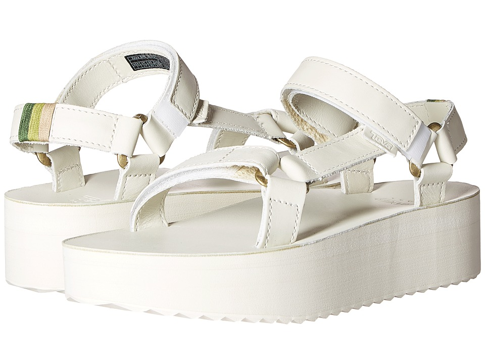 Teva Flatform Universal Crafted White Womens Shoes