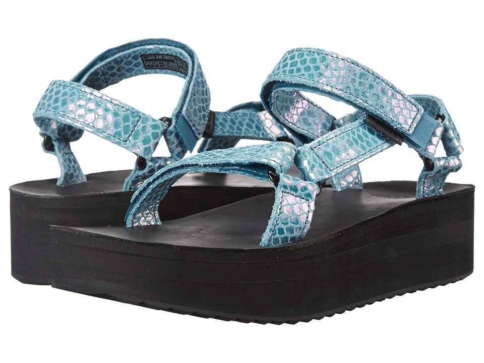 Teva Flatform Universal Iridescent Deep Teal Womens Shoes