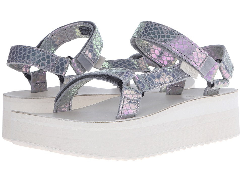 Teva Flatform Universal Iridescent Grey Womens Shoes