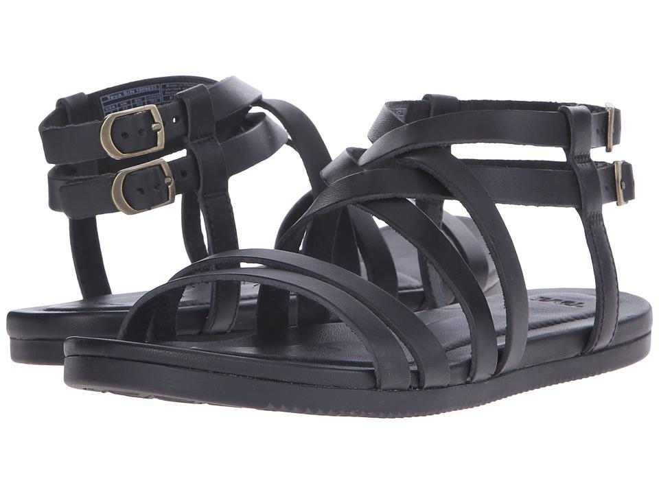 Teva Avalina Crossover Leather Black Womens Shoes