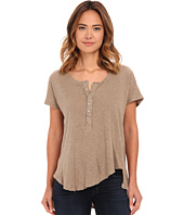Free People - Cotton Linen Slub Weekend Henley
