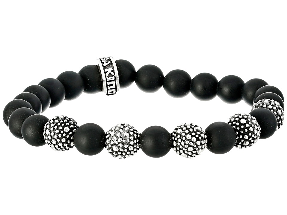 King Baby 8mm Onyx Bead Bracelet with 5 Stingray Beads (O...