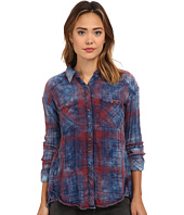 Free People - Plaid Double Cloth Double Dip Button Down