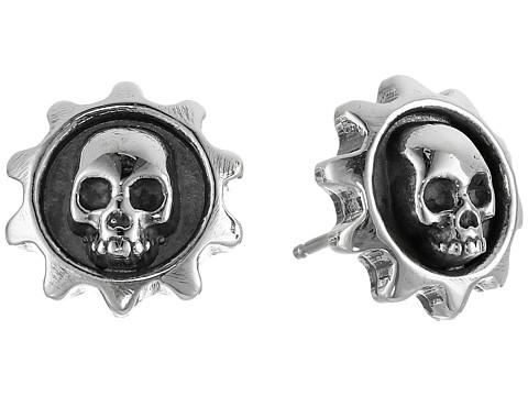 King Baby Studio Gear Skull Post Earrings