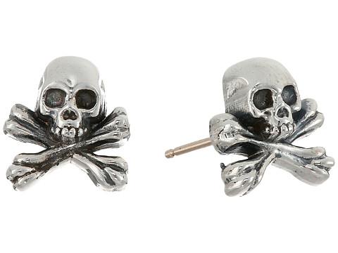 King Baby Studio Skull and Crossbones Post Earrings