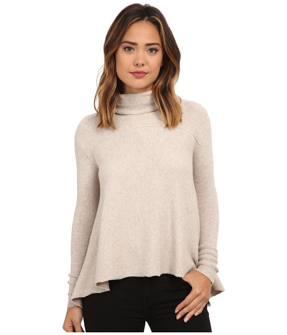 Free People Drape Drape Top Oatmeal Womens Sweater