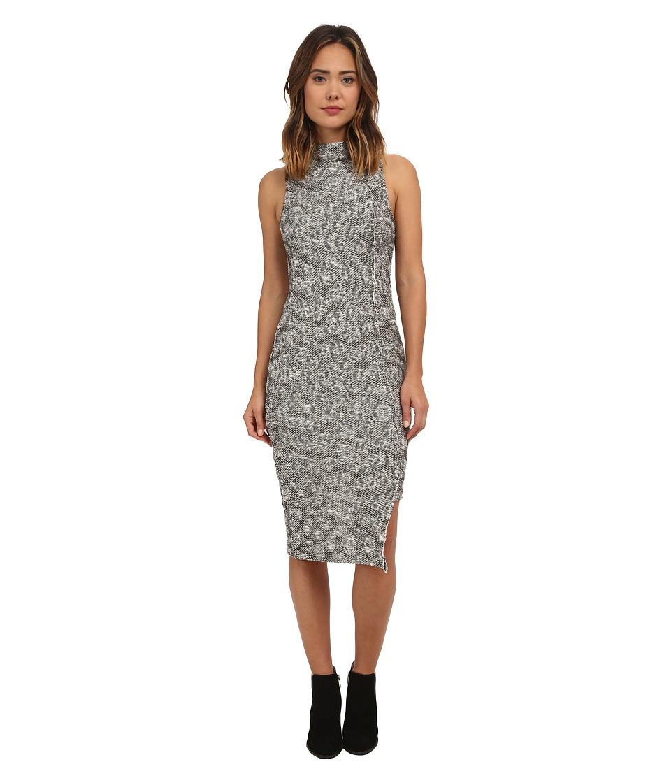 Free People Jacquard Cora Midi Dress Ivory/Black Combo Womens Dress