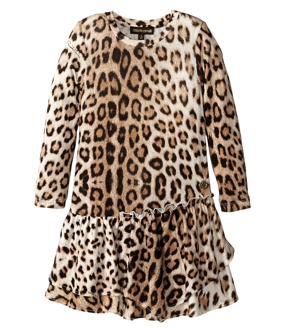 Roberto Cavalli Kids Leopard Dress Toddler Multi Girls Dress