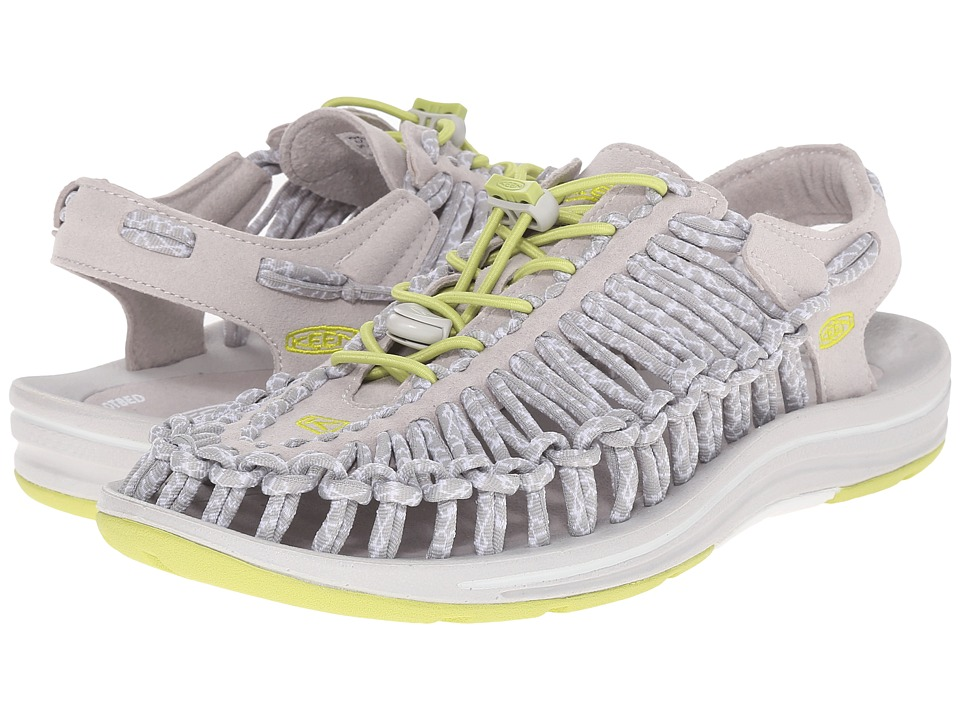 Keen Uneek (Vapor/Chartreuse) Women's Toe Open Shoes