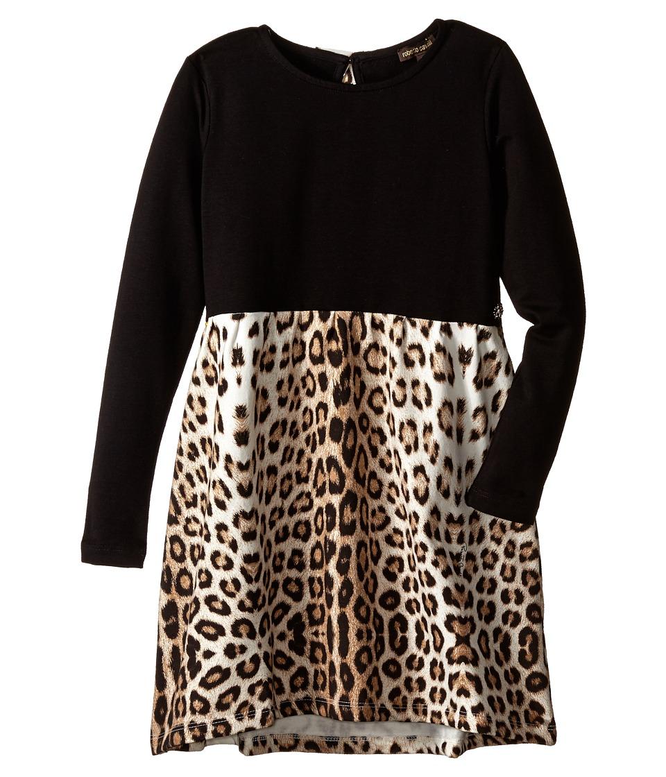Roberto Cavalli Kids Leopard Print Dress Little Kids/Big Kids Multi Girls Dress