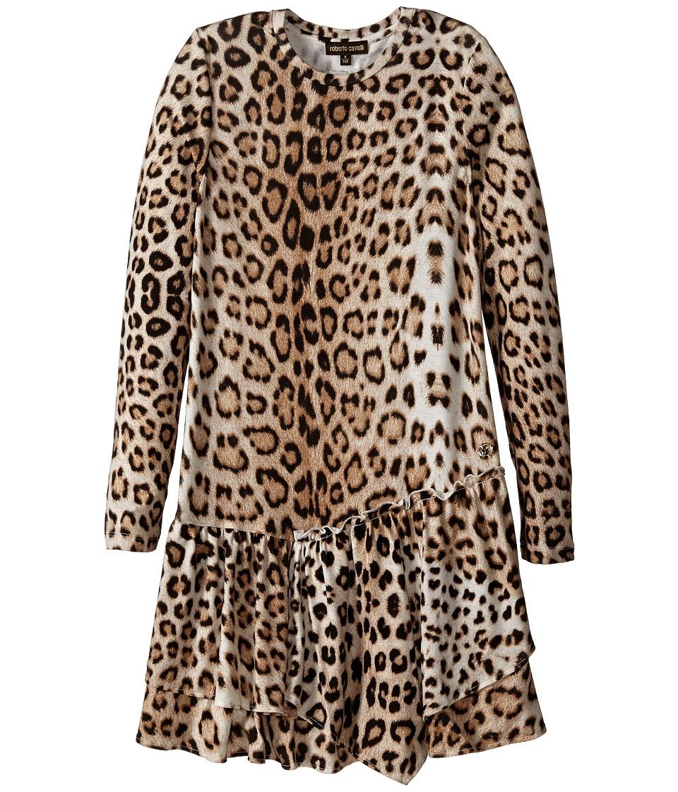 Roberto Cavalli Kids Leopard Dress Little Kids/Big Kids Multi Girls Dress