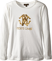 Roberto Cavalli Kids - Cavalli Long Sleeve Logo Tee Shirt (Little Kids/Big Kids)