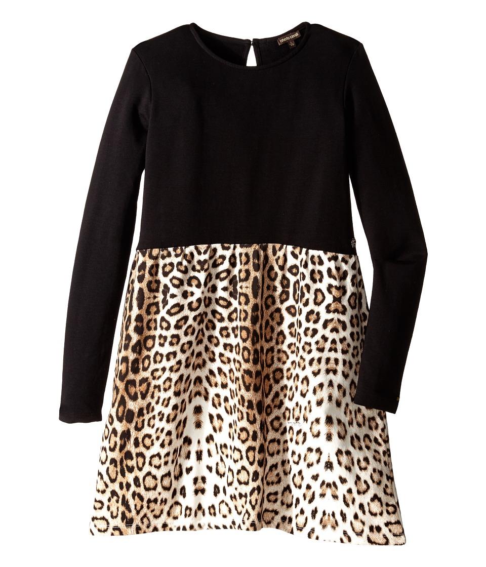 Roberto Cavalli Kids Leopard Print Dress Big Kids Multi Girls Dress