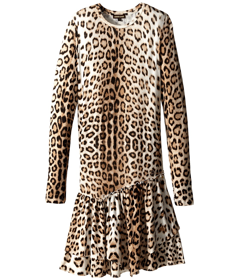 Roberto Cavalli Kids Leopard Dress Big Kids Multi Girls Dress