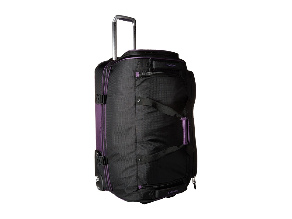 Travelpro - TPro Bold 2.0 - 26 Drop Bottom Rolling Duffel (Black/Purple) Duffel Bags
